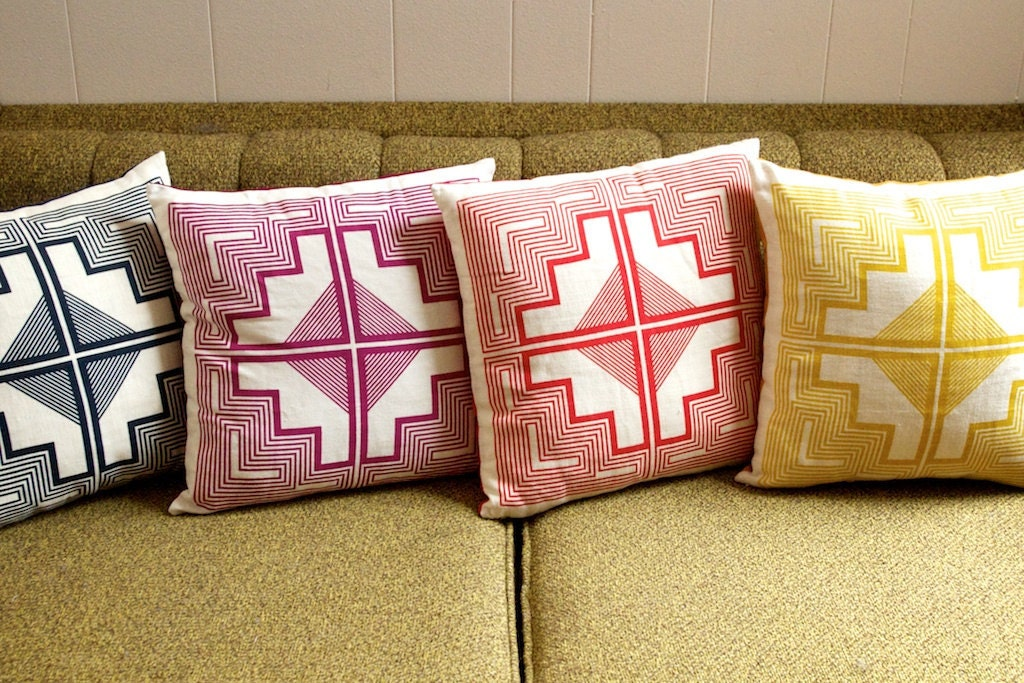 16x16 - native quilt pillow - mulberry purple