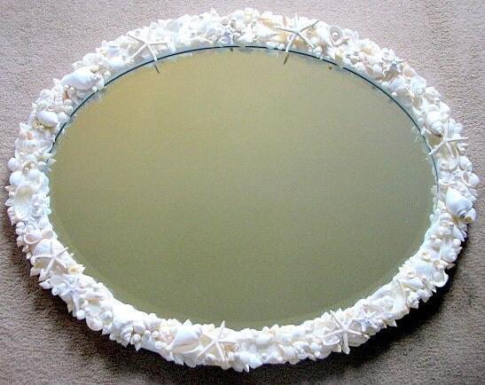 Пляж Декор Shell Зеркало - Seashell Зеркала - Custom Выберите Форма Зеркало & Shell Цвет