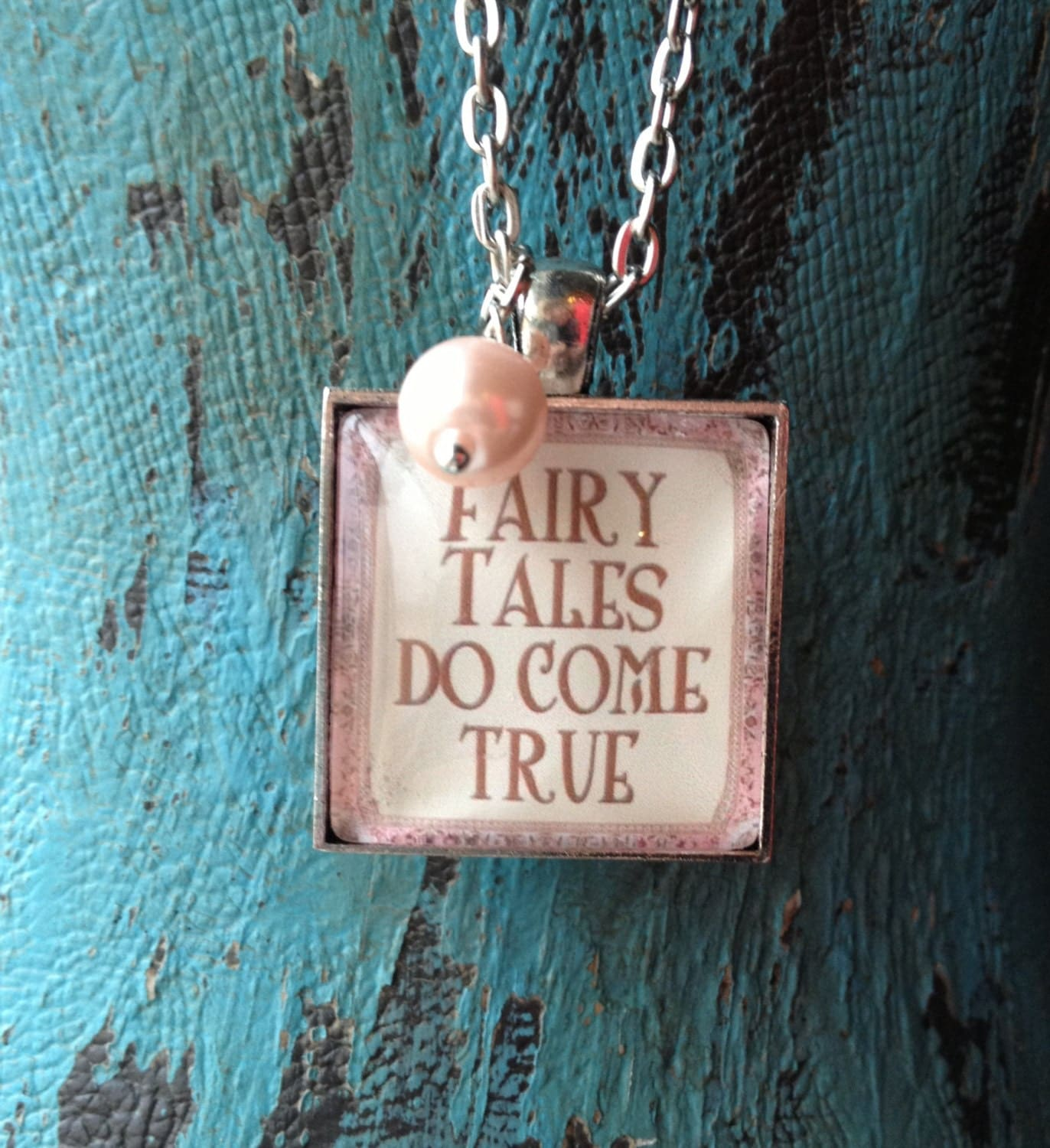 Fairy Tale Glass Necklace- Fairy Tales Do Come True