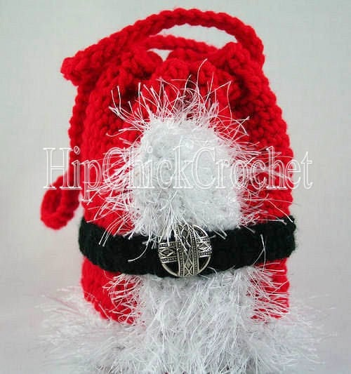 Jolly Santas Suit Purse Crochet Pattern