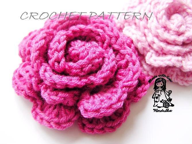 Flower scarf pattern