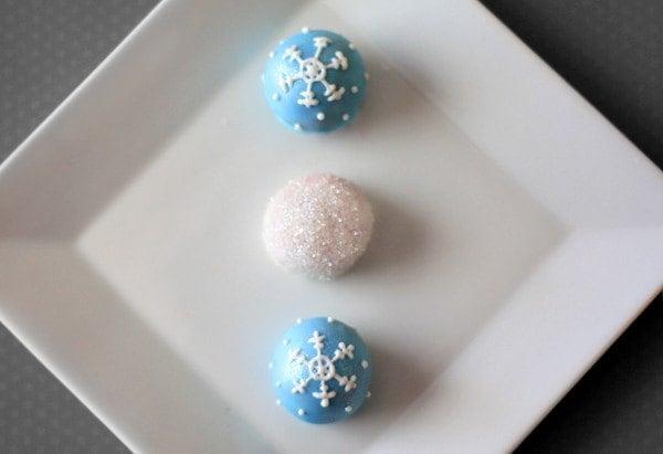 Winter Snowflake Cake Truffles // 1 Dozen // Christmas // CUSTOM FLAVORS