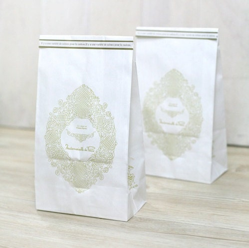 10 Mademoiselle Paper Bags(S) - 120 X 220 X 65mm