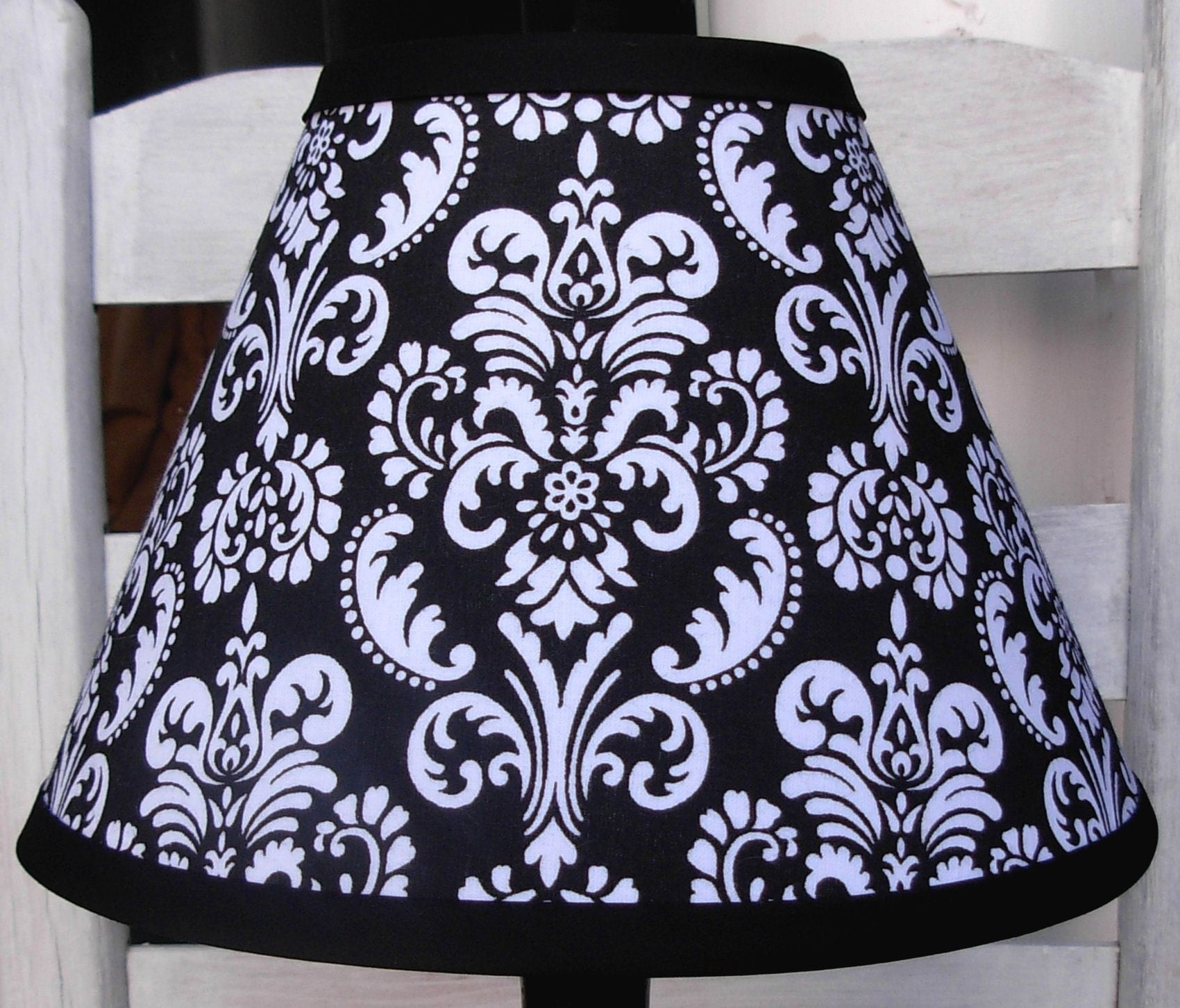 Black and white damask lamp shade aloadofball Image collections