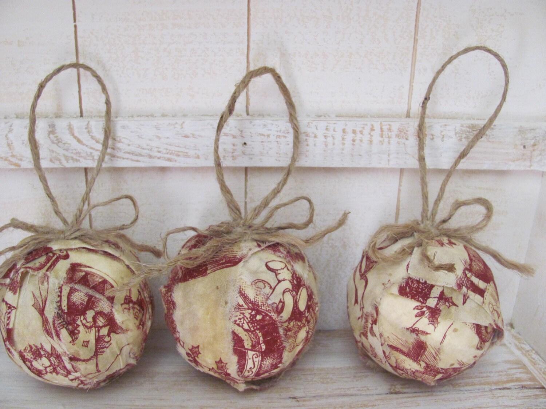 Toile ткань рождественские шары Rag X 3