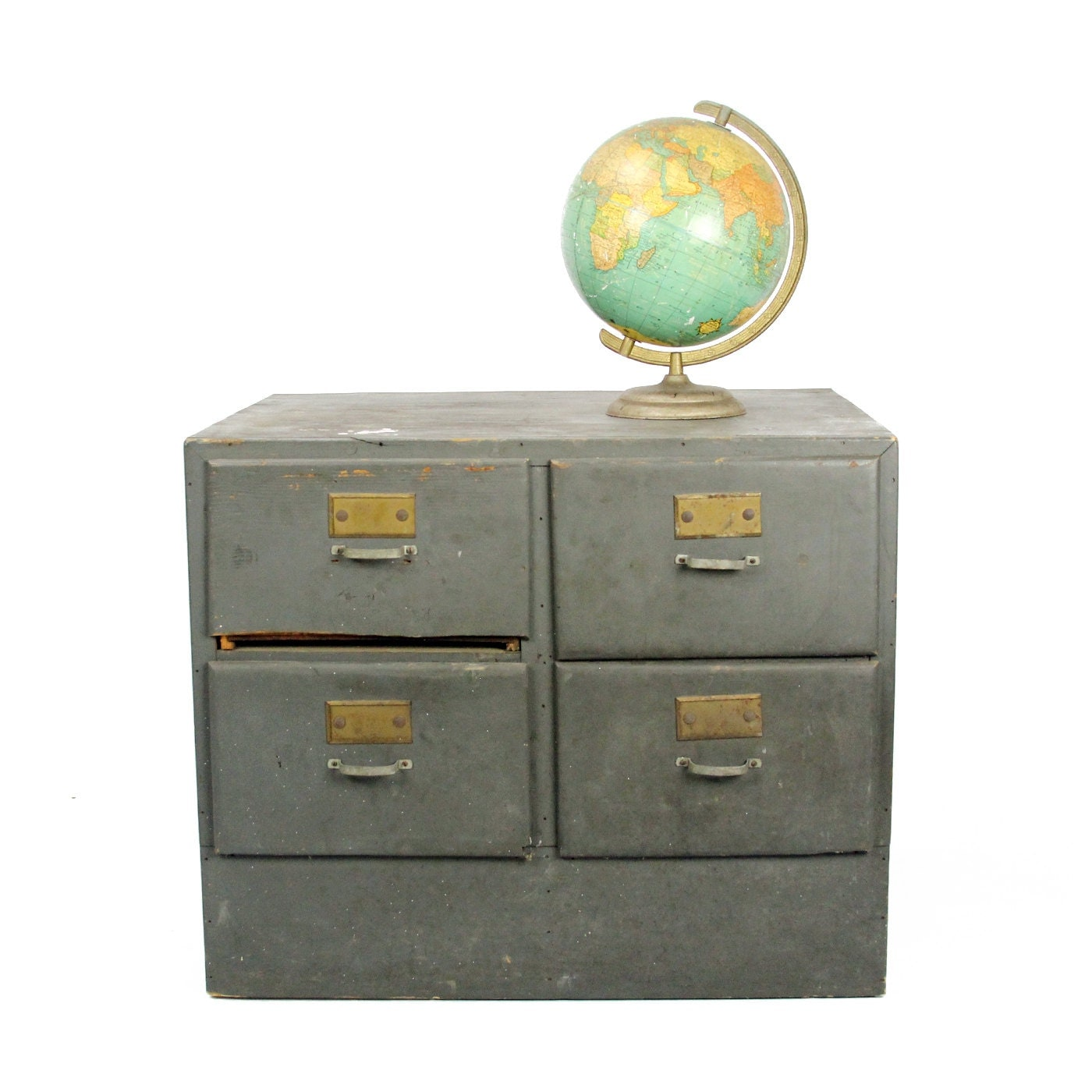 vintage industrial large gray drawer unit - lacklusterco