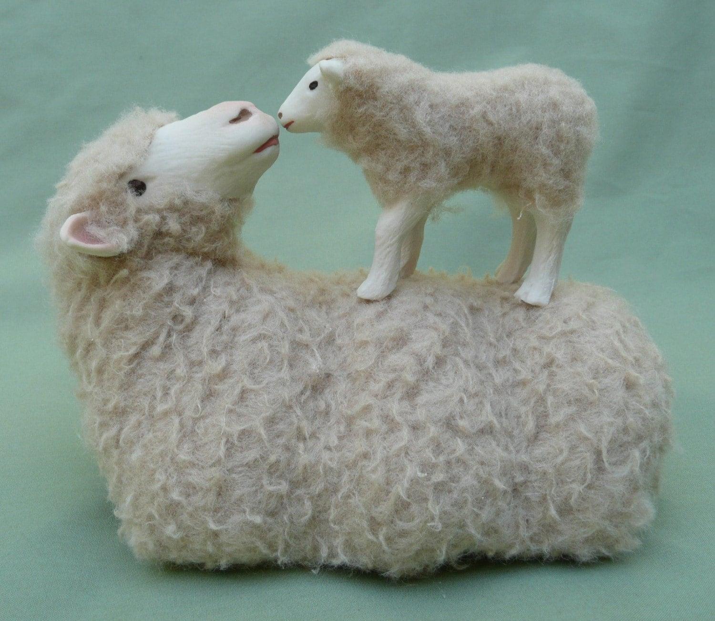 Merino Lying with Lamb