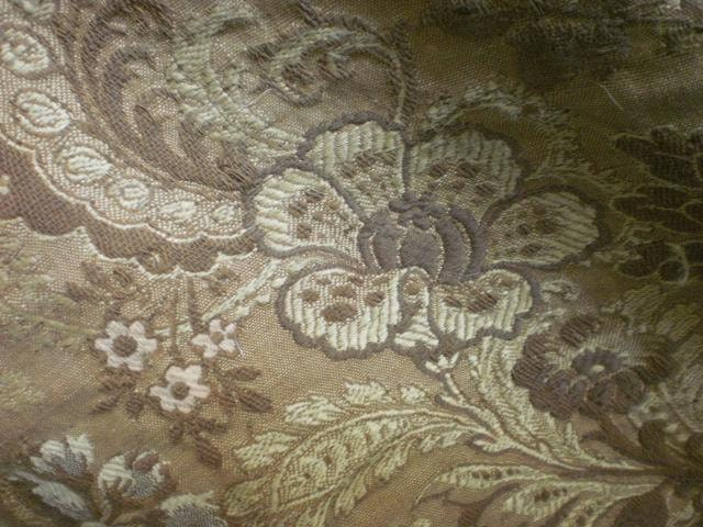 Morceau antique French silk weave brocade tapestry perfect for period cushions etc. late 1800s