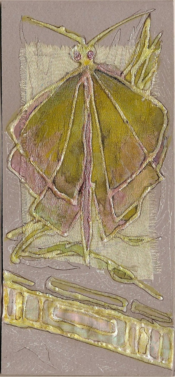 Light green butterfly II - blank greeting card for any occasion