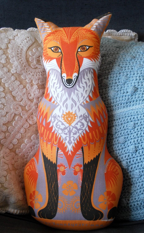 Felix the Fox Tea Towel / Cloth Kit - A silkscreen design by Sarah Young