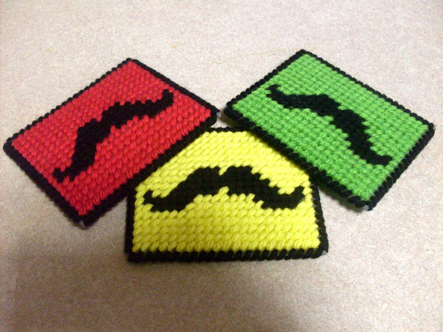 Christmas Mustache coasters