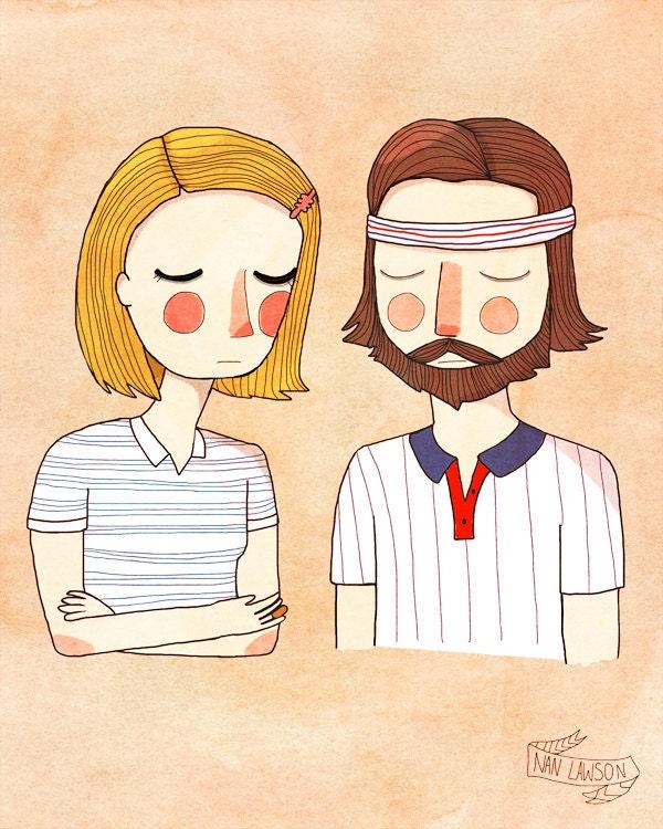 Secretly In Love - 5 x 7 - Illustration Print