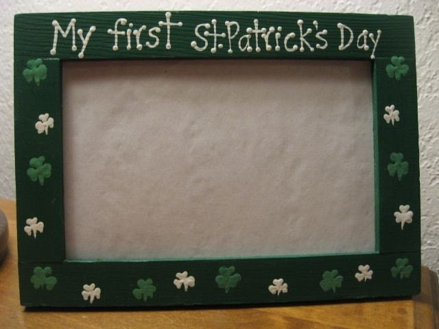 My first St Patricks Day baby wedding twins photo picture frame