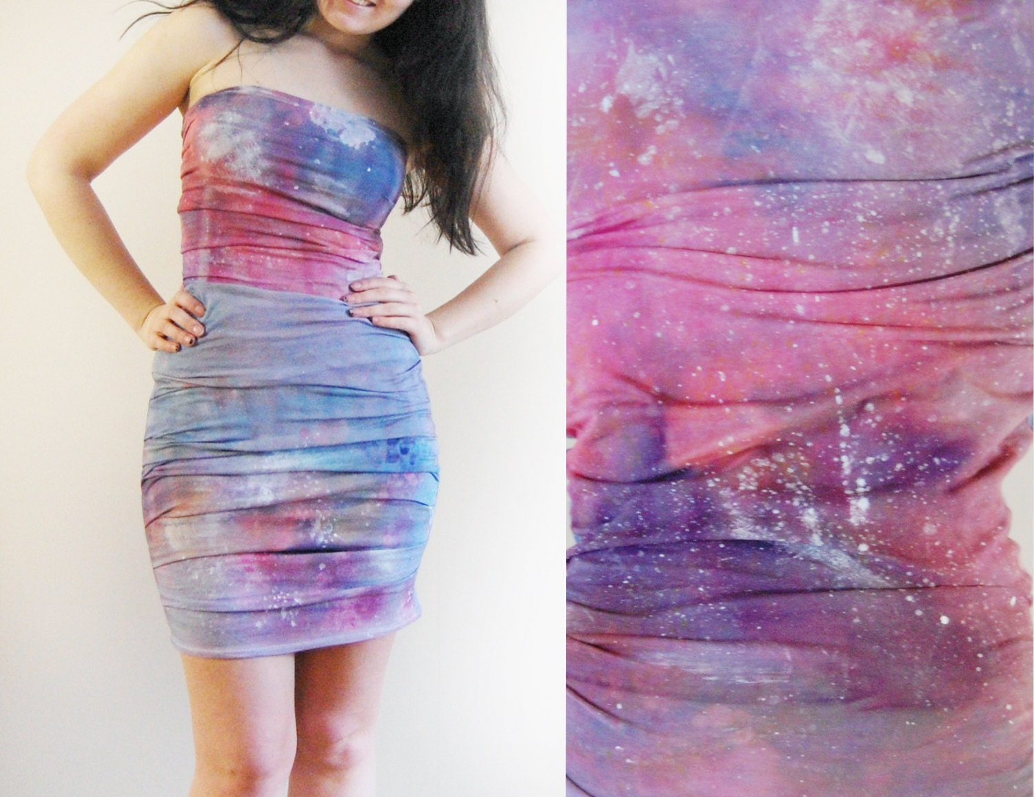 Galaxy - hand dyed mini dress/murMur - murMurMarket