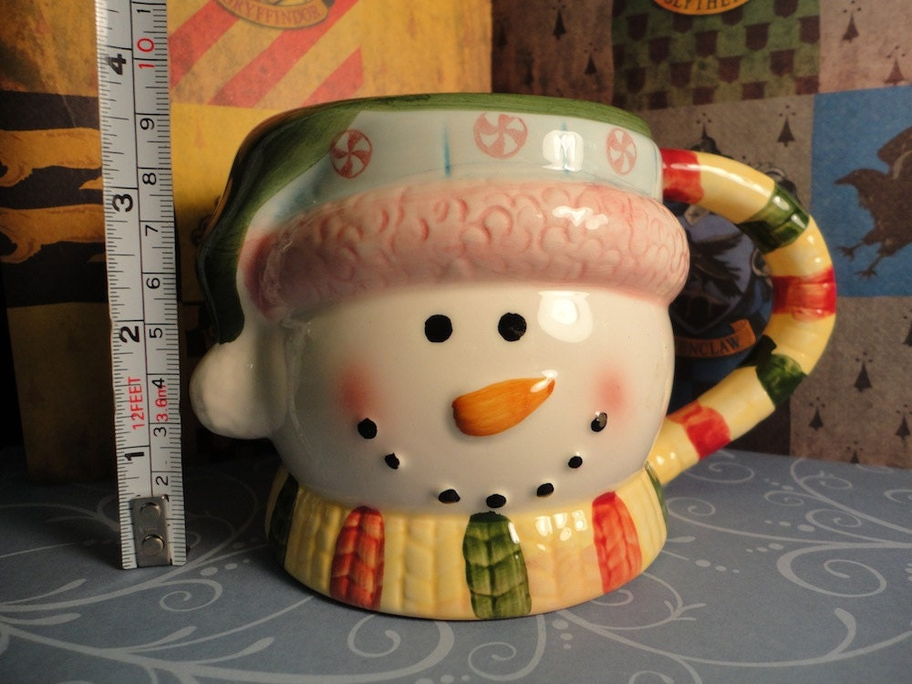 Festive Snowman Grim Teacup Mug from Harry Potter and the Prisoner of Azkaban