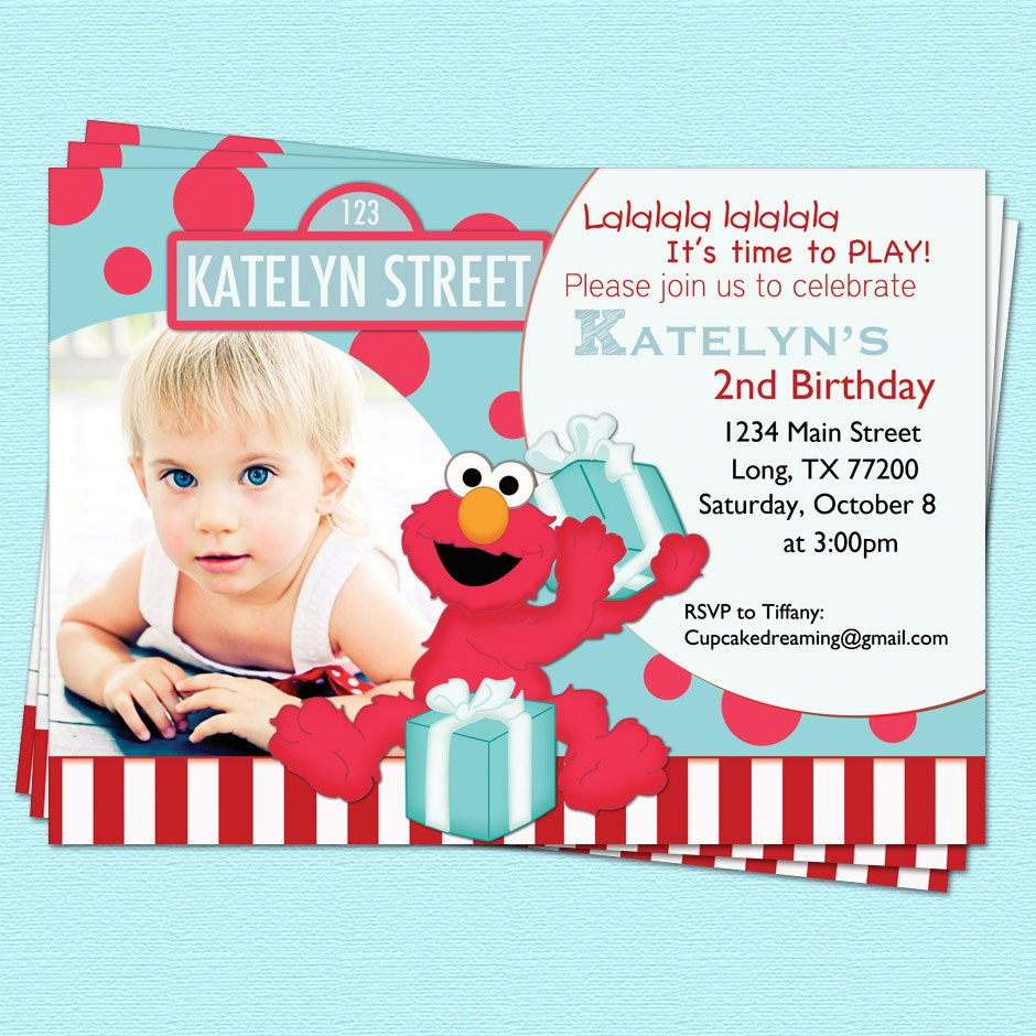 Sesame Street Custom Invitations with great invitations template