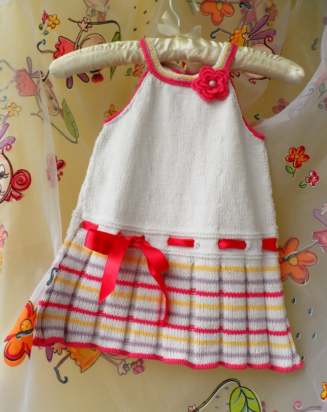 فروش تابستان -- در حال حاضر تنها 45 دلار -- تابستان دست بافتنی لباس کودک را با نخ پنبه