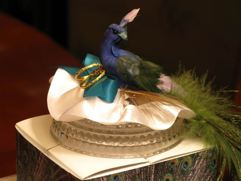 LMK Gifts introduces its one of a kind PEACOCK BIRD wedding cake topper