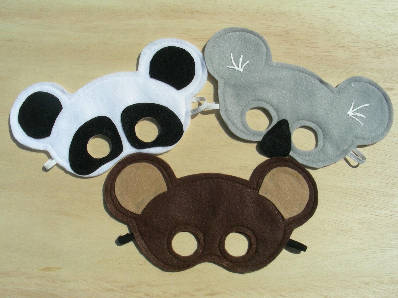 Three Little Bears Mask Set