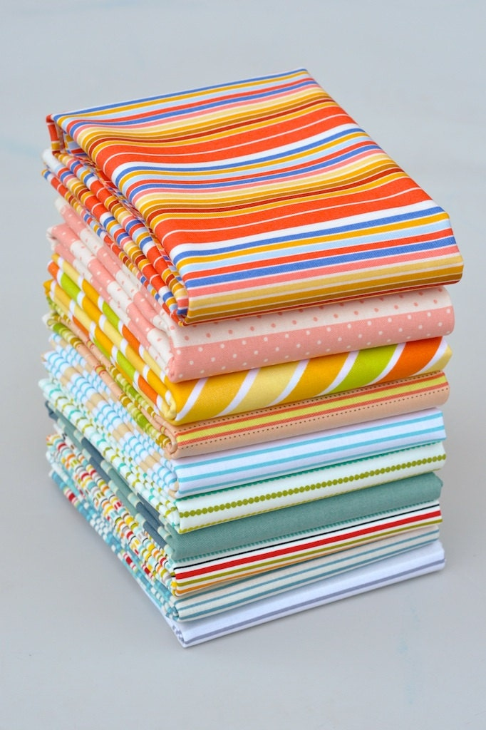 Stripes That Bind Bundle of 10 Fat Quarters