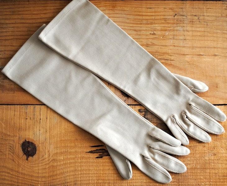Vintage Opera Gloves Womens Gloves Retro Ladies Gloves Medium - labiblioteca