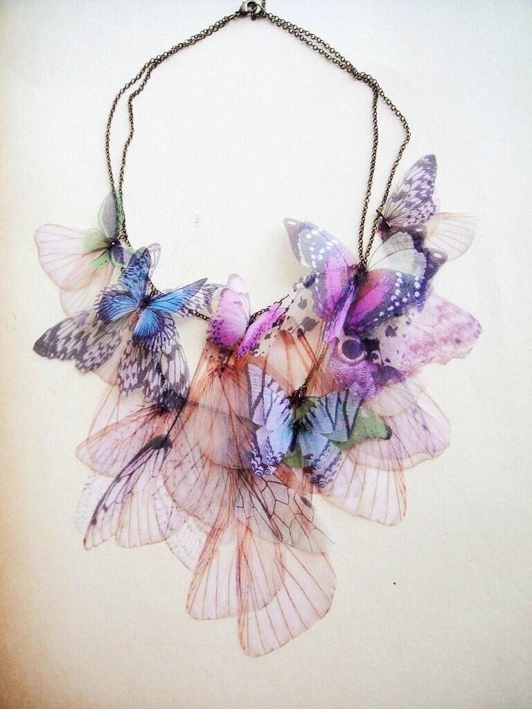 Fluttery Дыхание Жизни Ожерелье-3 передачи на органза Индивидуальные заказы