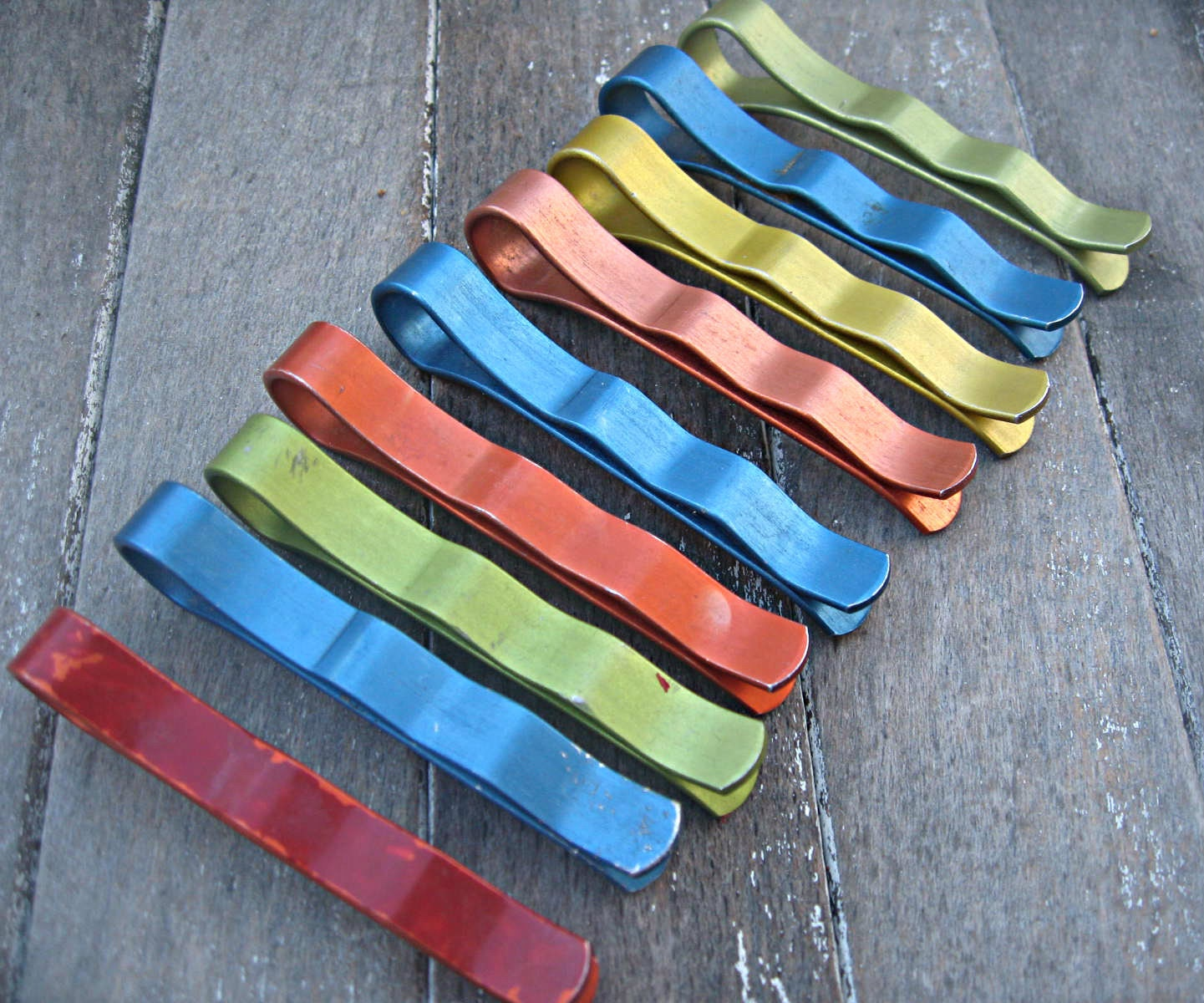 Vintage aluminum clothespins, Hollywood pin-ups, retro, mid-century