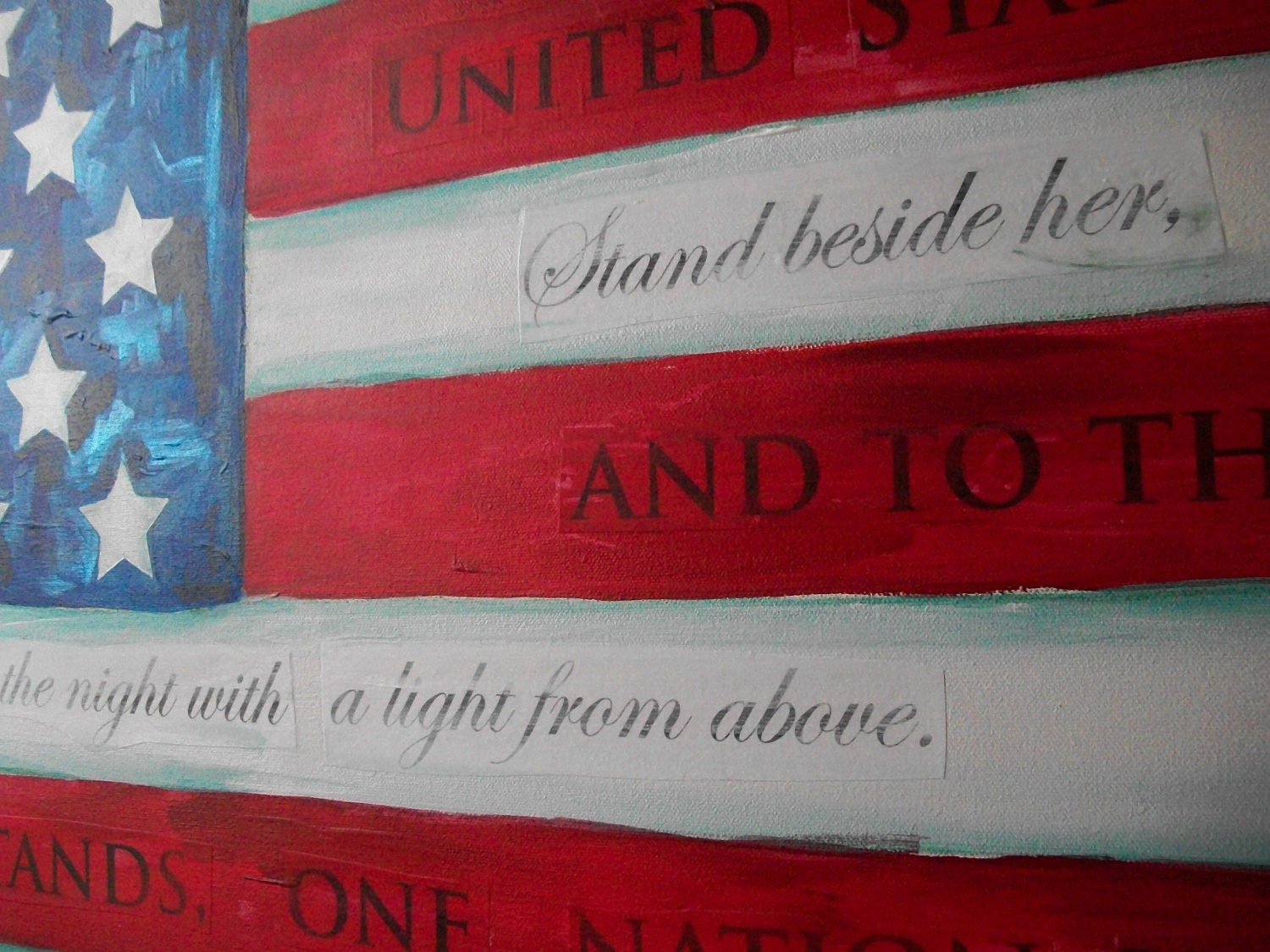 Made to Order American Flag Painting 36x48 by Jennifer Moreman