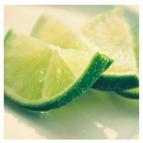 still life, food photography, lime slices photograph, i'm a lime girl myself, green citrus kitchen decor summer drinks fine art print 5x5
