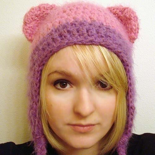 Вязание шапки с длинными ушками - хобби мастер класс фото #2. зверошапки Шапомания и я