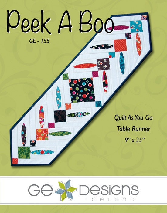 Peek A Boo - Table Runner Pattern