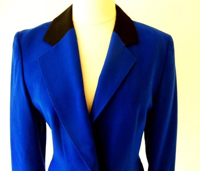 60s Blue Pendelton Jacket  / 1960 Wool Blazer / 60s Fashion - StraylightVintage
