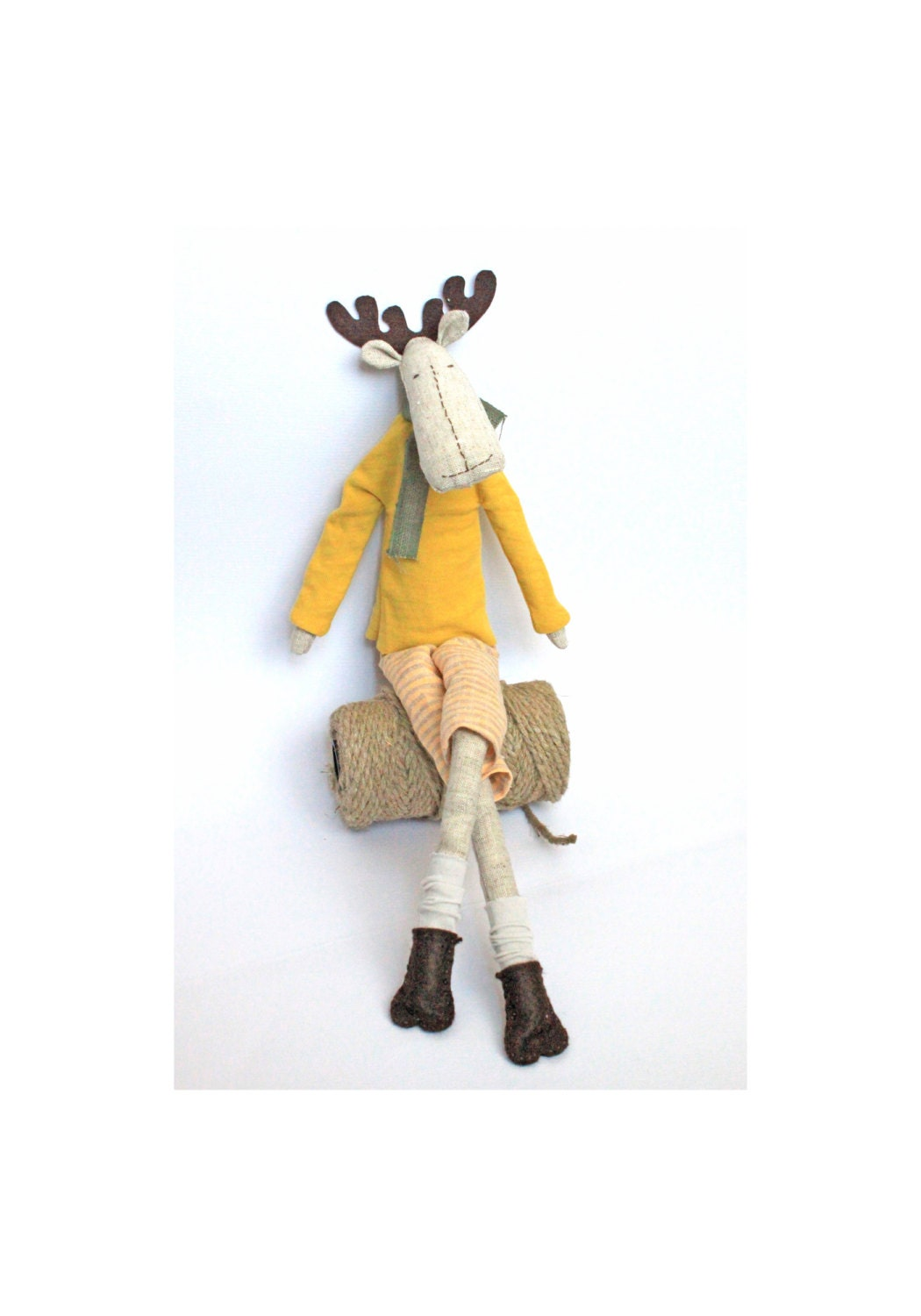 Tilda reindeer toy - ready to ship - MiracleInspiration