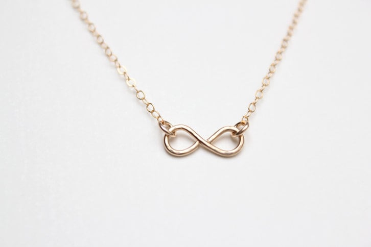 Tiny Infinity Necklace - Hand Forged - Figure Eight