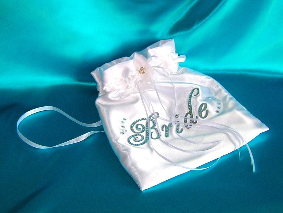 Bridal Drawstring Bag Satin Money Dance Bag Card Bag Bridal Pouch
