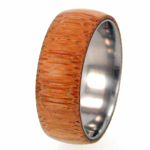 Eco-Friendly Bamboo Wood Titanium Ring with my Ring Armor Waterproofing applied - jewelrybyjohan