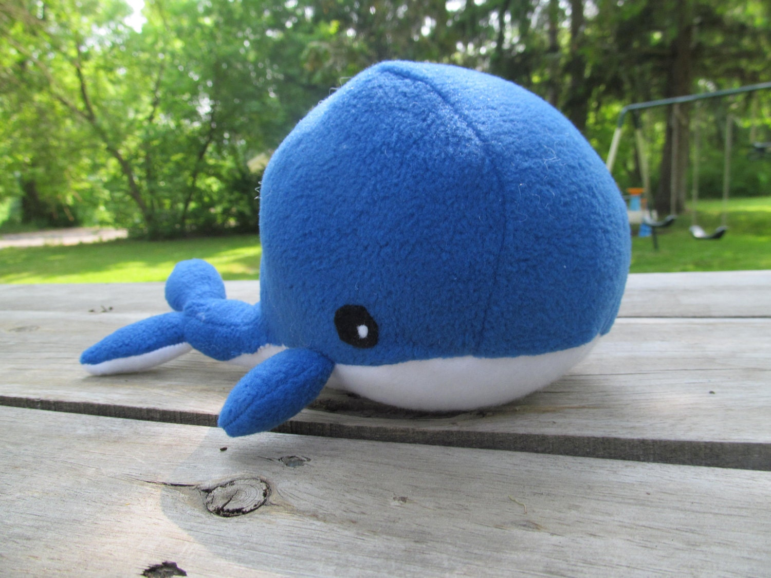 Stuffed Blue Whale - Lucary