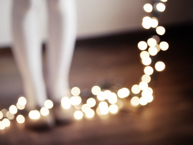 40 off sale Winter Bokeh Twinkle Lights Alice by ChelseaVictoria