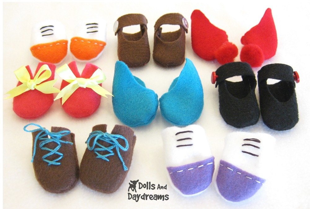Doll and Stuffed Toy Shoes PDF Sewing Pattern