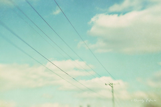 sky, clouds, blue, white, dreamy, lensbaby, fine art photography - BeverlyLeFevre