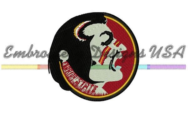 FSU Seminole Indian Football Machine Embroidery Design - Instant