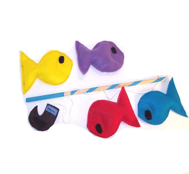 Felt Fishing Game Eco Friendly Montessori Toy - READY MADE - Sapucha