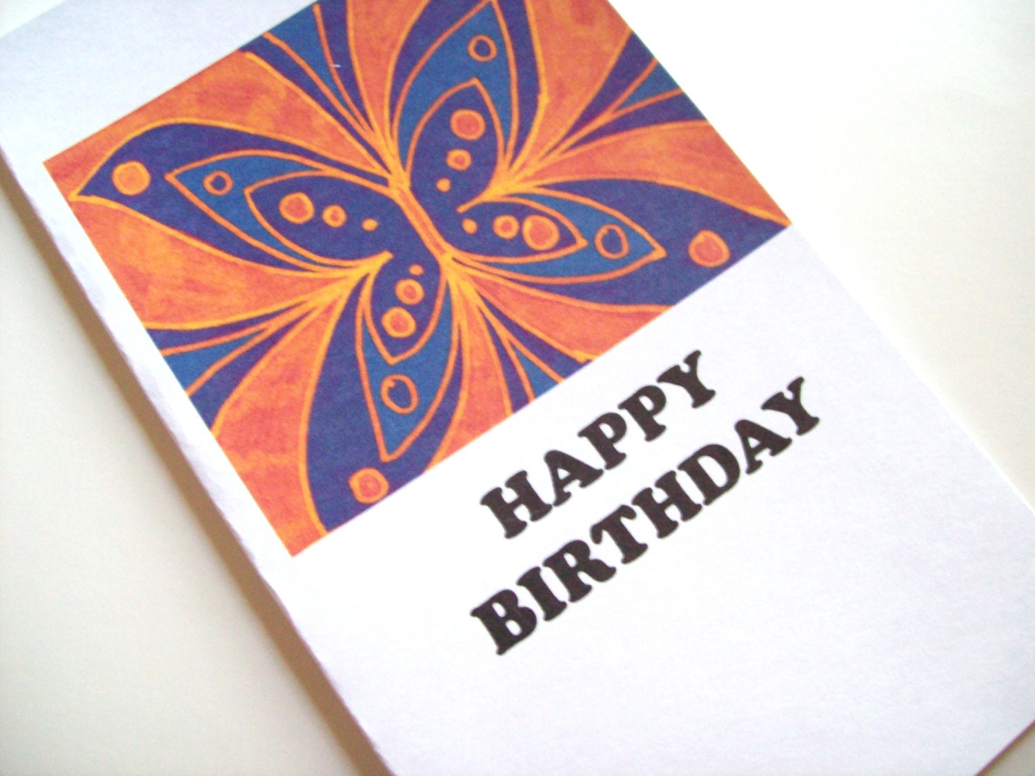 Happy Birthday Card Butterfly
