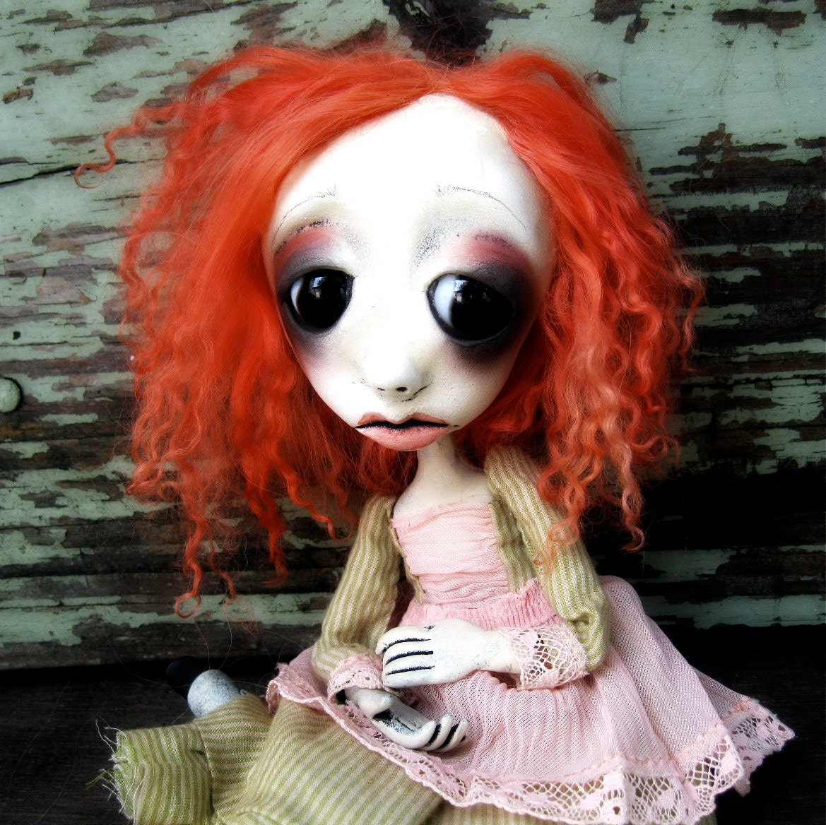 Gothic Ooak  Art Doll Halloween Decoration Josephine Weltey RESEVERED  for L