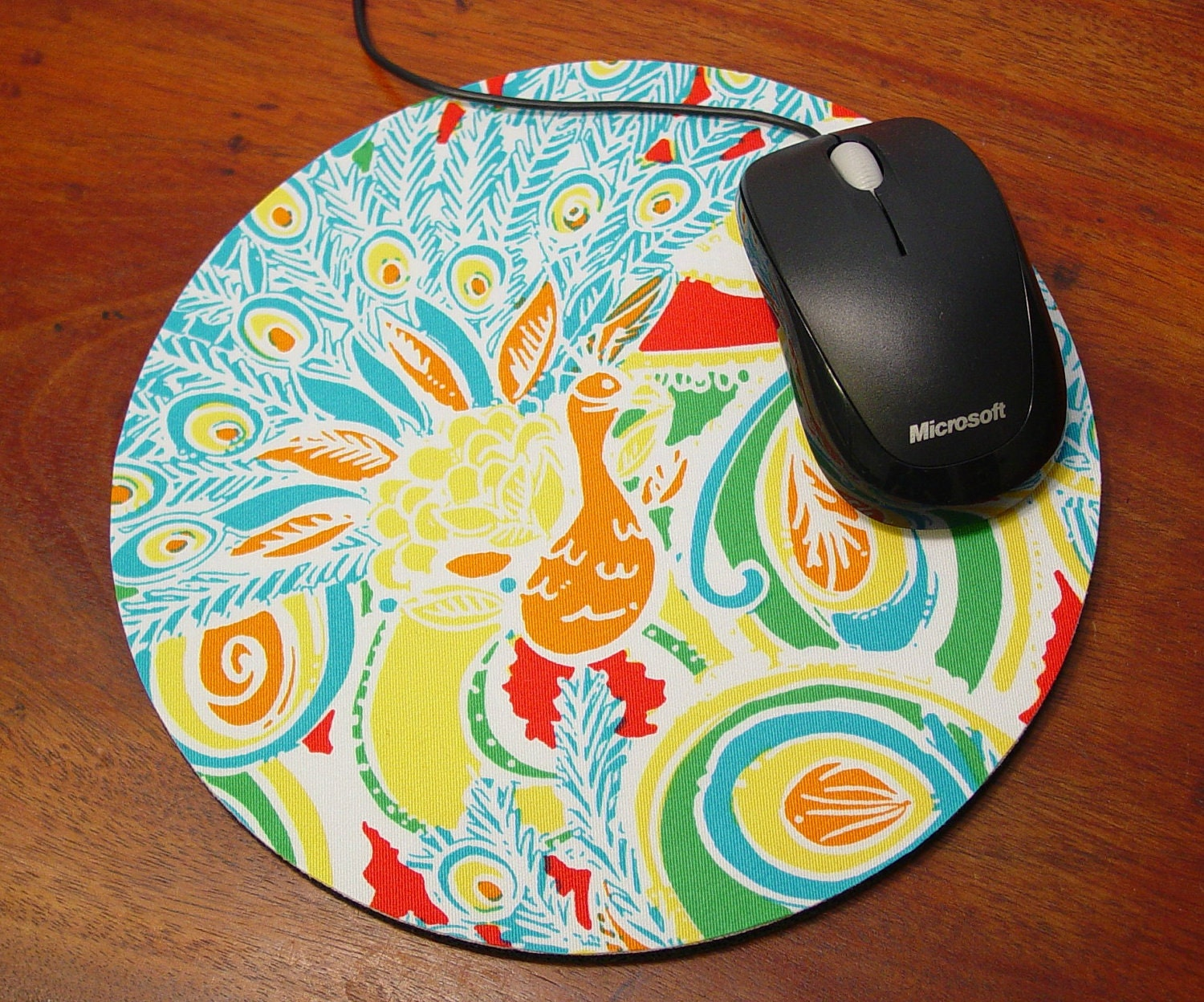 Lilly Pulitzer Mouse Pad Laptop Mousepad in Shake Your Feathers with Matching Coaster