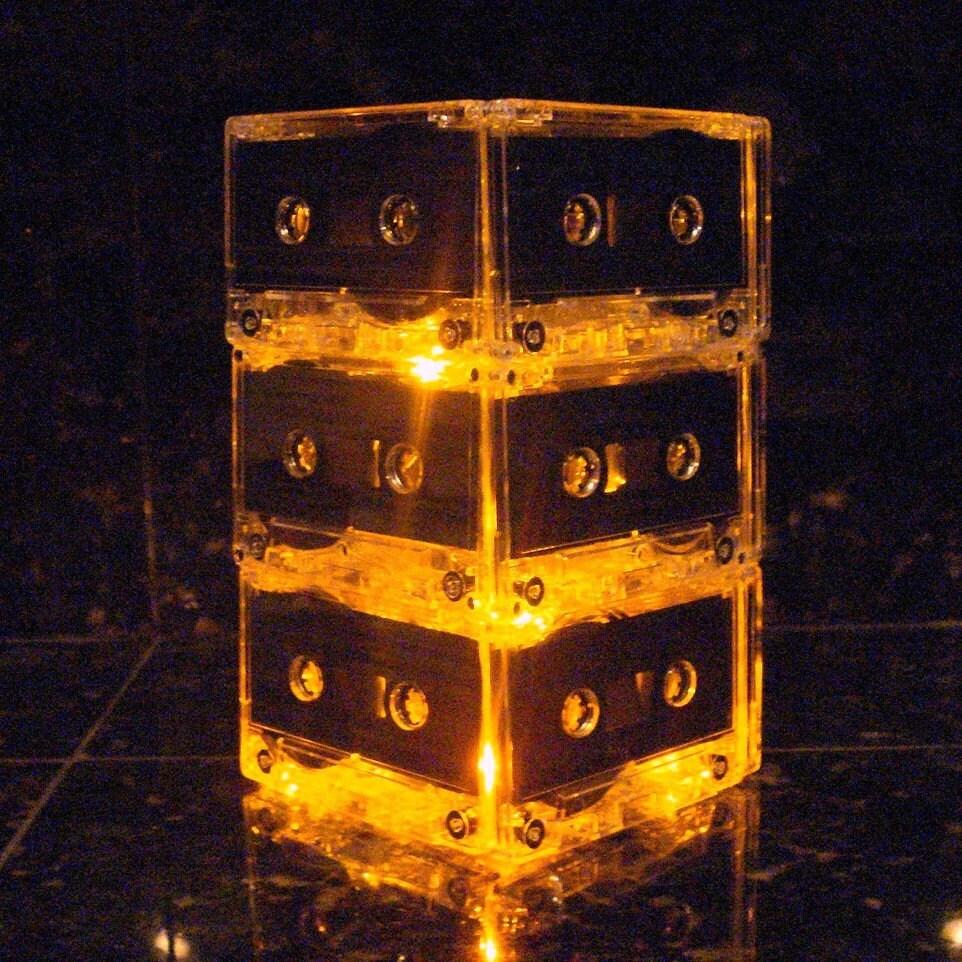 Golden MixTape Light Lamp Centerpiece