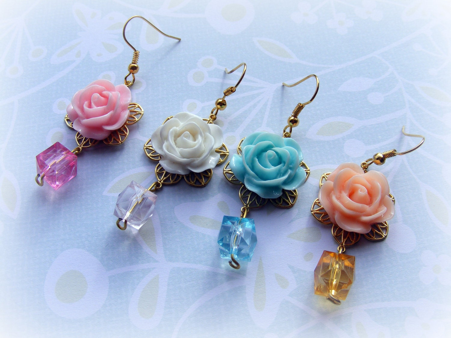 Earrings Vintage Spring (Your choice of color)