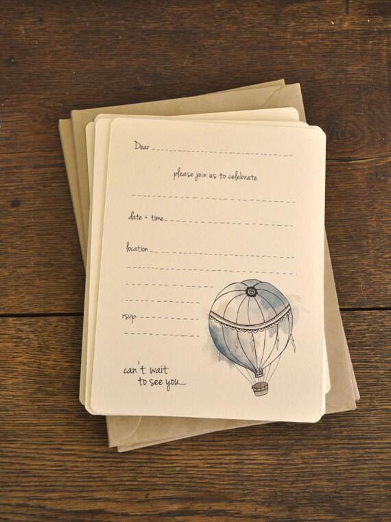 Hot Air Balloon Invitation by AnAprilIdea