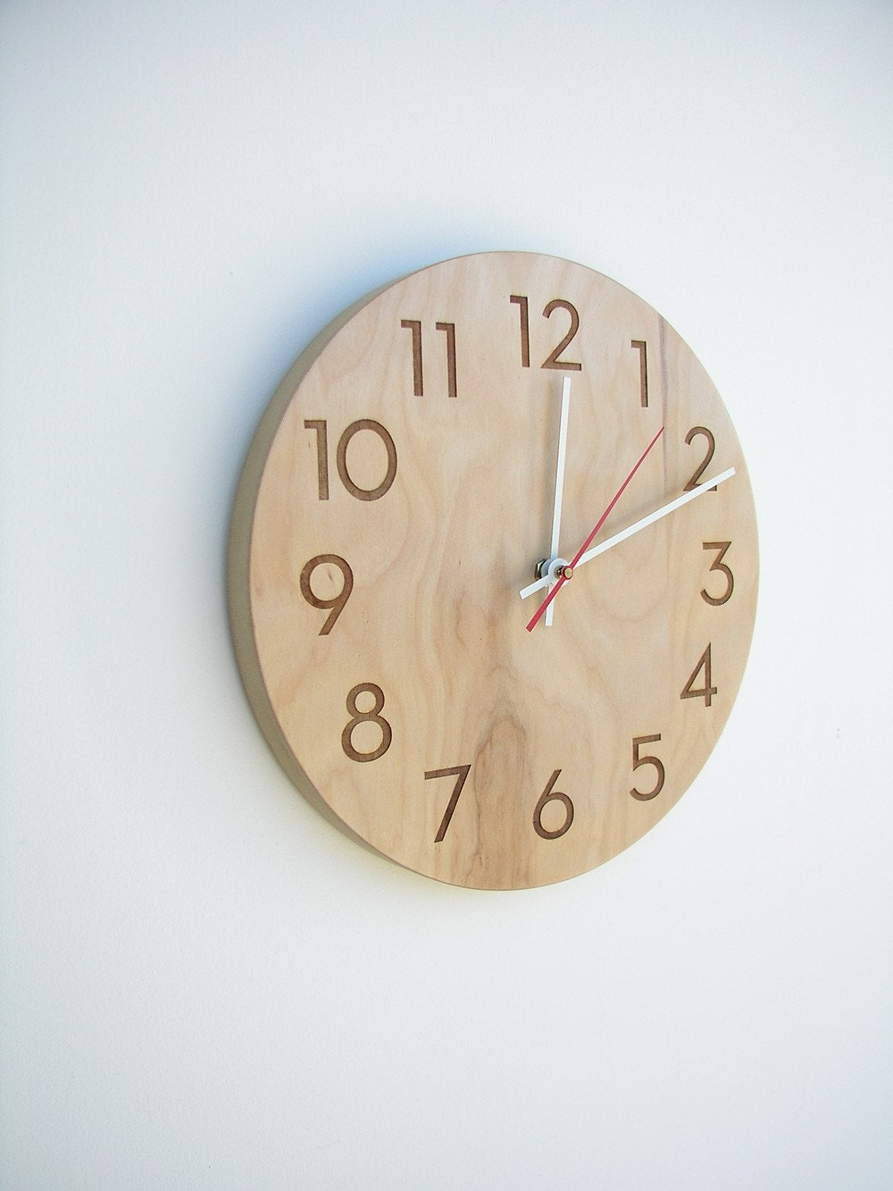 modern wood wall clock - uncommon
