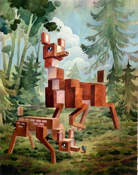 Deer by Laura Bifano